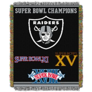 Oakland Raiders Commemorative Throw Blanket by Northwest