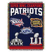 New England Patriots Commemorative Throw Blanket by Northwest