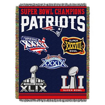 New England Patriots Commemorative Throw Blanket by Northwest