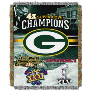 Green Bay Packers Commemorative Throw Blanket by Northwest