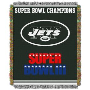 New York Jets Commemorative Throw Blanket by Northwest