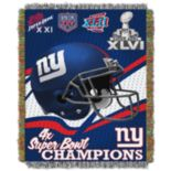 New York Giants Commemorative Throw Blanket by Northwest