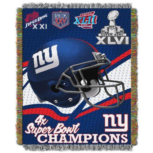 New York Giants Commemorative Throw Blanket by Northwest