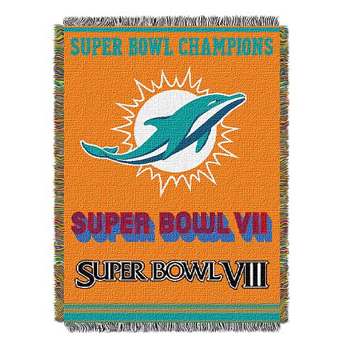 Miami Dolphins Commemorative Throw Blanket by Northwest