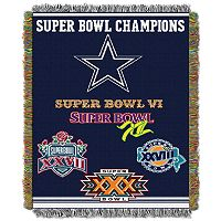 Dallas Cowboys Commemorative Throw Blanket by Northwest