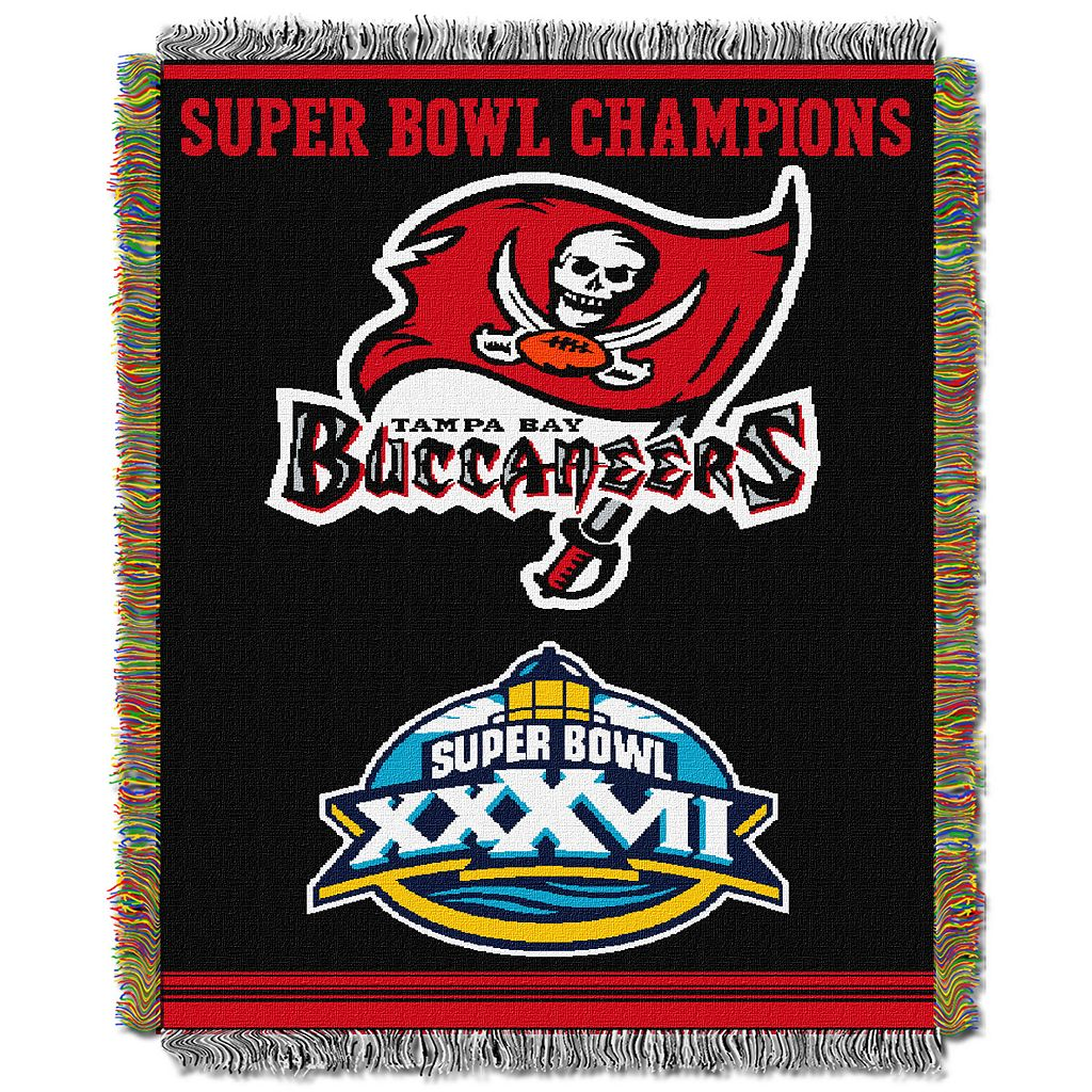 Tampa Bay Buccaneers Commemorative Throw Blanket by Northwest