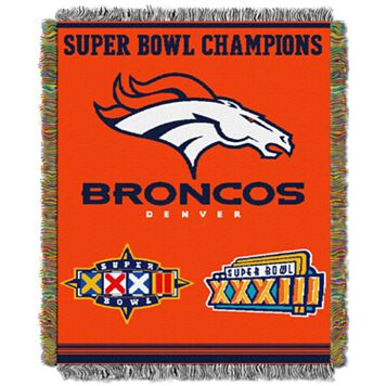 Denver Broncos Commemorative Throw Blanket by Northwest
