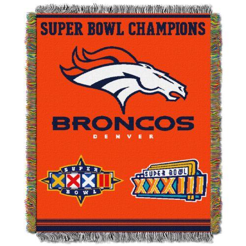 Denver Broncos Commemorative Throw Blanket by Northwest