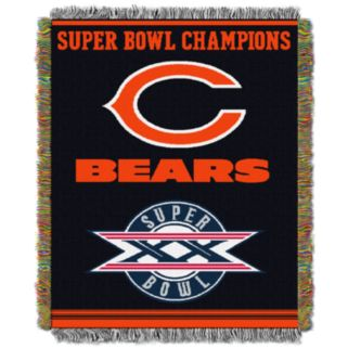 Chicago Bears Commemorative Throw Blanket by Northwest