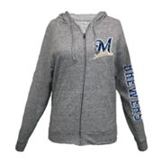 Milwaukee Brewers Distressed Hoodie - Women's