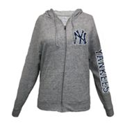 New York Yankees Distressed Hoodie - Women's