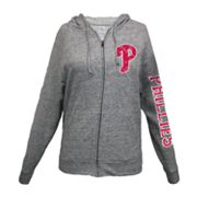 Philadelphia Phillies Distressed Hoodie - Women's