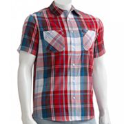 Tony Hawk Encounter Plaid Woven Button-Down Shirt - Men