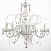Gallery Venetian Crystal 5-Light Heart Chandelier