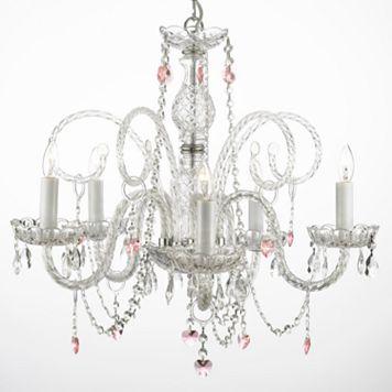 Gallery Venetian Crystal 5-Light Heart Chandelier