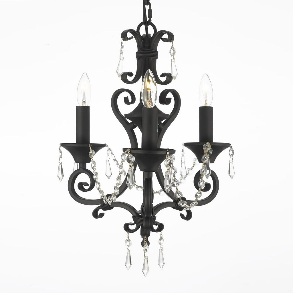 Gallery Wrought Iron 3-Light Mini-Chandelier