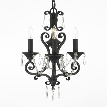Gallery Wrought Iron 3-Light Mini-Chandelier