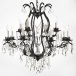 Gallery Wrought Iron 12-Light Chandelier