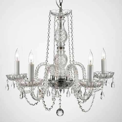 Gallery venetian crystal 5 light chandelier aloadofball Images