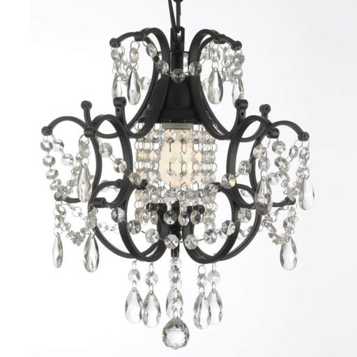 Gallery Black Wrought Iron Mini-Chandelier