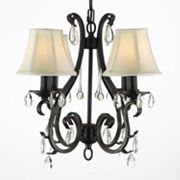 Gallery Versailles Wrought Iron 4-Light Chandelier