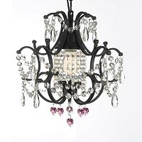 Gallery Versailles Crystal Heart Mini-Chandelier