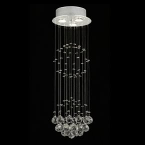 Gallery Raindrop Crystal 3-Light Chandelier