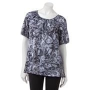 Cathy Daniels Feather Burnout Top