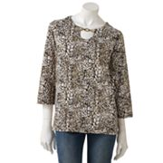 Cathy Daniels Animal Embellished Top
