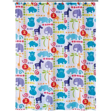 Allure Home Creations Safari Animal Fabric Shower Curtain