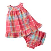Chaps Plaid Woven Dress - Baby