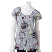 Apt. 9 Essential Floral Shirred Tee