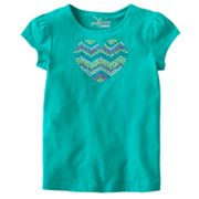 Jumping Beans Bling Heart Tee - Girls 4-7