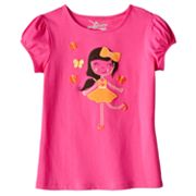 Jumping Beans Girl and Butterfly Tee - Girls 4-7