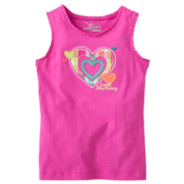 Jumping Beans Heart Tank - Girls 4-7