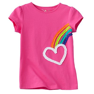 Jumping Beans Rainbow Heart Tee - Girls 4-7