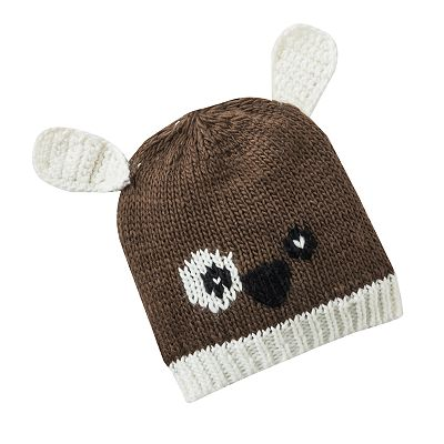 Pink Cookie Dog Critter Beanie - Kids