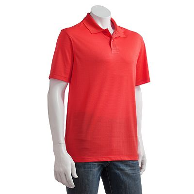 Haggar Cool 18 Checked Performance Polo