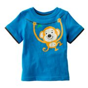 Jumping Beans Mock-Layer Monkey Tee - Baby