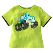 Jumping Beans Mock-Layer Monster Truck Tee - Baby