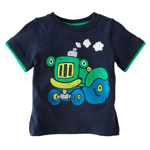 Jumping Beans® Mock-Layer Tractor Tee - Baby