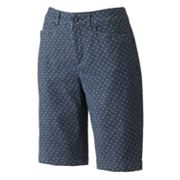 Croft and Barrow Polka-Dot Chambray Bermuda Shorts