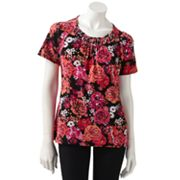 Croft and Barrow Floral Top - Petite