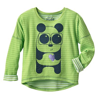 Mudd Panda Striped Reversible Tee - Girls 7-16