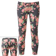 Celebrity Blues Floral Skinny Jeans - Juniors