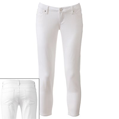 Celebrity Blues Color Skinny Ankle Jeans - Juniors