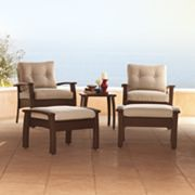 SONOMA outdoors 5-pc. Wicker Chair, Ottoman & Table Set