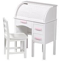 Guidecraft Jr. Roll-Top Desk & Chair Set - White