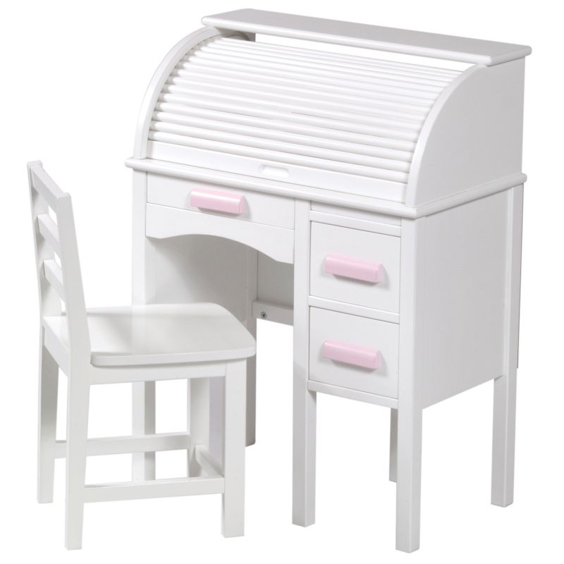 Guidecraft Jr Roll Top Desk And Chair Set White