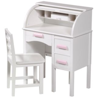 Guidecraft Jr. Roll-Top Desk and Chair Set - White